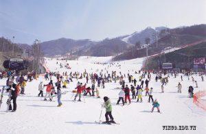 Trượt Bắng Trai Nghiệm Mua đông Hàn Quốc