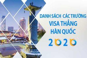 Danh Sach Truong Visa Thang Han Quoc Moi Nhat